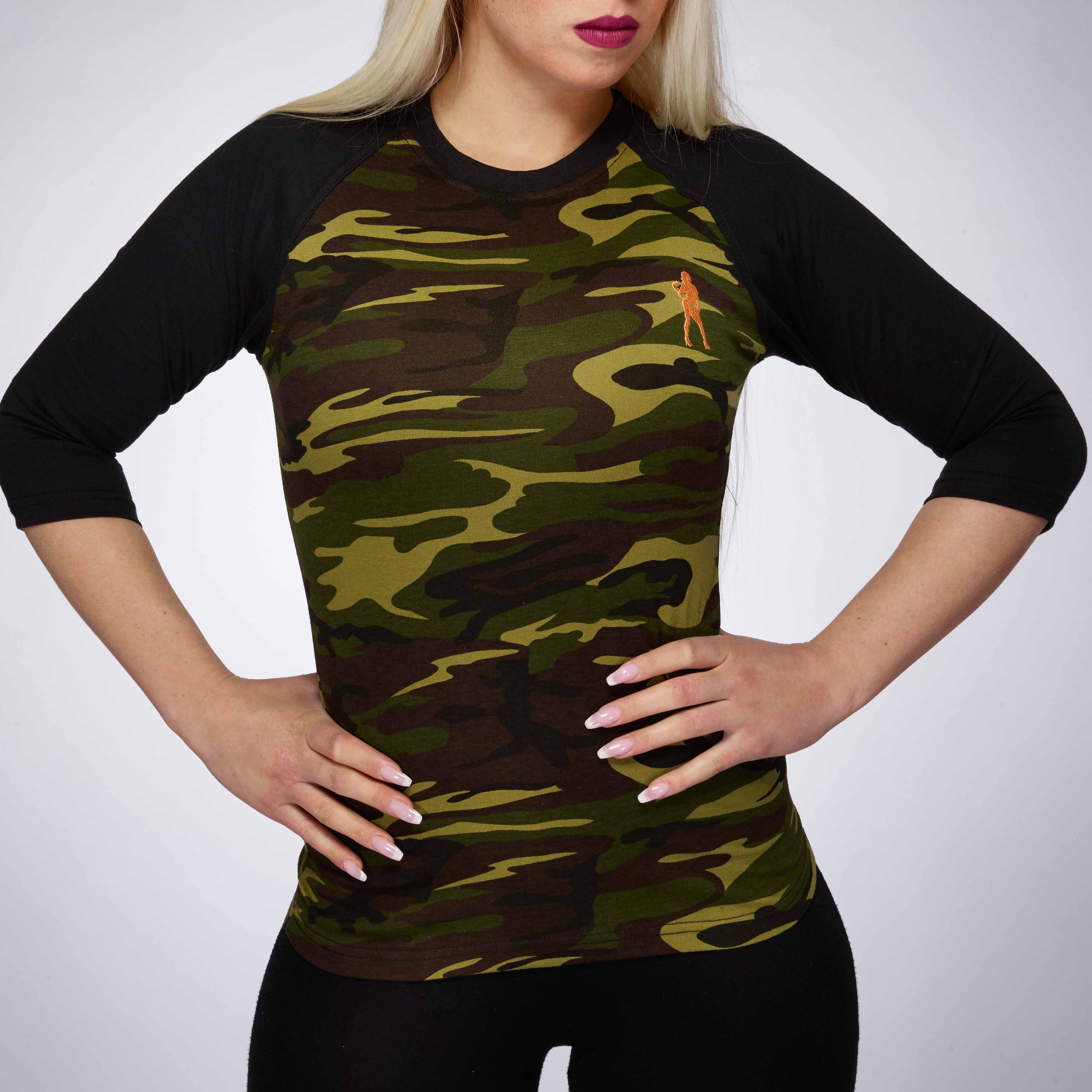 WOMEN BASEBALL JERSEY CAMOUFLAGE/BLACK | XXL GRIP
