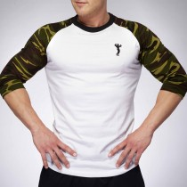 MEN BASEBALL JERSEY WHITE/CAMOUFLAGE  | XXL GRIP