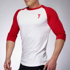 MEN BASEBALL JERSEY WHITE/RED | XXL GRIP