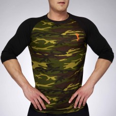 MEN BASEBALL JERSEY CAMOUFLAGE/BLACK | XXL GRIP
